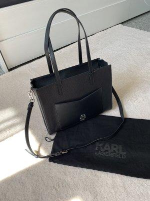 Karl Lagerfeld Tasche NEU schwarz silber Handtasche