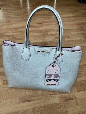 Karl Lagerfeld Tasche / Shopper Silber Metallic