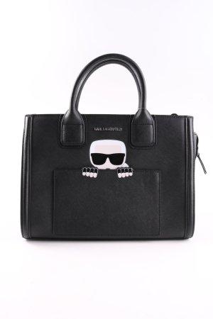 Karl Lagerfeld Tote schwarz Motivdruck Casual-Look