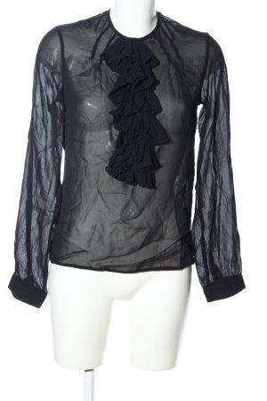 Karl Lagerfeld Transparenz-Bluse schwarz Elegant