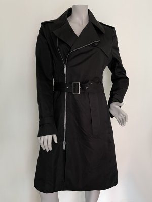 Karl Lagerfeld Trench Coat black cotton