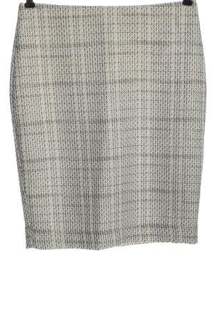 Karl Lagerfeld Tweed rok lichtgrijs-wit geruite print zakelijke stijl