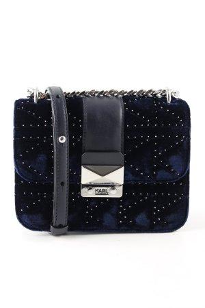 Karl Lagerfeld Umhängetasche blau-schwarz Steppmuster Elegant