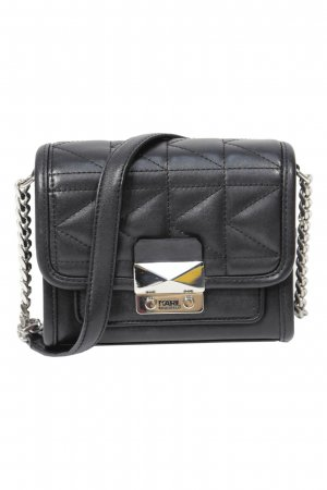 Karl Lagerfeld Umhängetasche in Schwarz aus Leder
