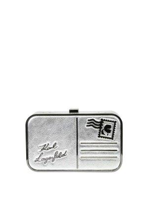 Karl Lagerfeld Umhängetasche in Silber aus Leder