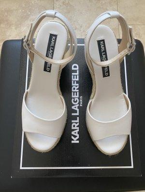 Karl Lagerfeld Sandalias con plataforma blanco Cuero