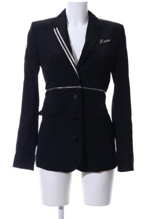 Karl Lagerfeld Long-Blazer schwarz Business-Look