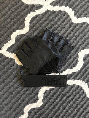 Karl Lagerfeld Guanto con dita nero