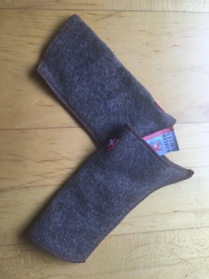 Fingerless Gloves grey brown