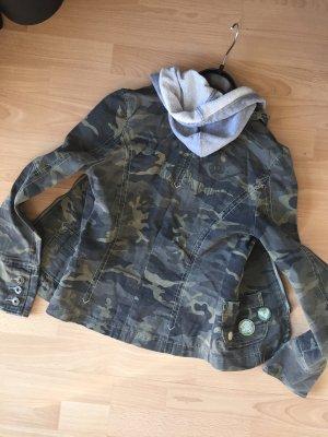 Karma Denim Camouflage Jacke mit Kapuze