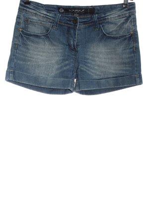 Karma Pantalón corto de tela vaquera azul look casual