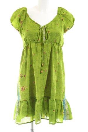 Karma Abito a maniche corte verde stampa integrale stile casual