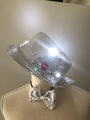 Karneval / Fasching Hut mit Licht, Fliege neu