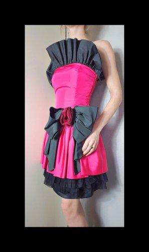 Vintage Traje para mujer negro-rosa