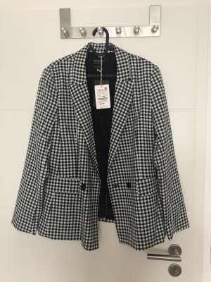 Pull & Bear Boyfriend Blazer white-black