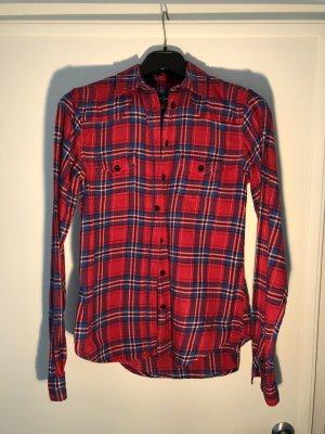 Pepe Jeans London Camicia a scacchi rosso mattone-blu acciaio