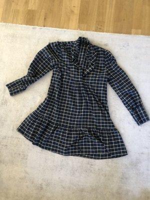 Karo-Blusenkleid von ZARA