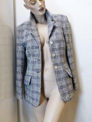 Karo Bouclé-Tweed Wollblazer, Gr. 32 bis 36