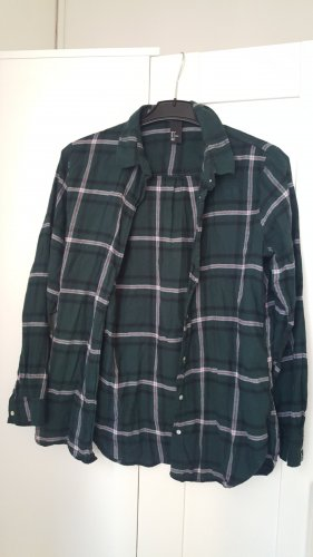 H&M Flannel Shirt red-forest green