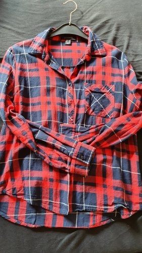 Atmosphere Checked Blouse carmine