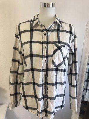 Forever 21 Flannel Shirt white-black