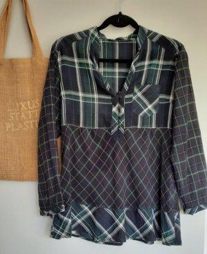 Karo-Hemd-Bluse, leichte Bluse