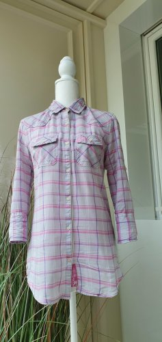 SUPER DRY Checked Blouse multicolored cotton