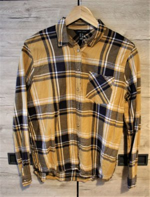 New Look Flannel Shirt black-gold orange