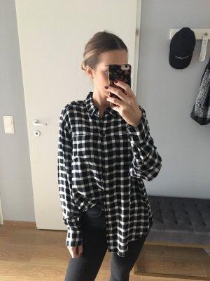 Karo Hemd schwarz Flanell H&M