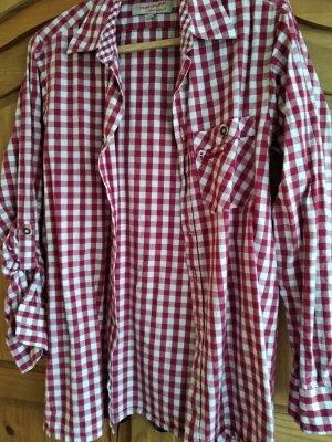 Gino Ginero Traditional Shirt white-brick red