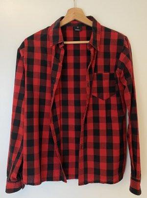 foreplay Camicia da boscaiolo rosso-nero Cotone