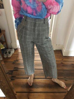 Karo Hose Anzughose in Grau von Sandro Größe 34 karierte ausgestellte Hose