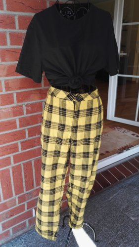 Peg Top Trousers black-yellow