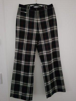 Blue One Pantalón de lana negro-gris