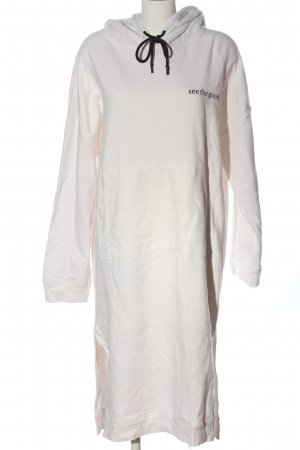 Karo Kauer Sweat Dress white printed lettering casual look
