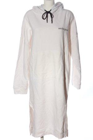 Karo Kauer Robe Sweat blanc lettrage imprimé style décontracté