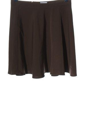 Karo Kauer x NAKD Flared Skirt brown casual look