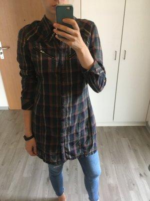 Karo Kleid - Hemd