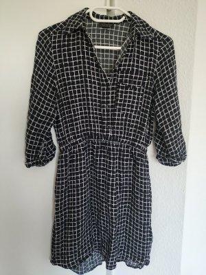 Karo Kleid schwarz-weiß