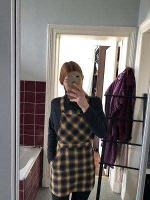 Karo Latzkleid Kleid Muster latz Schulmädchen kariert Geld schwarz Mini