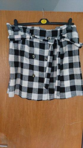 Primark Linen Skirt white-black