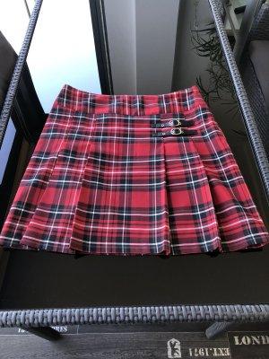 Yessica Plisowana spódnica czarny-czerwony
