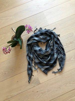 Hüftgold Scialle nero-grigio Lana