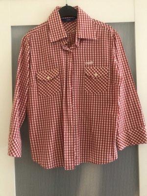 Tradycyjna bluzka biały-czerwony
