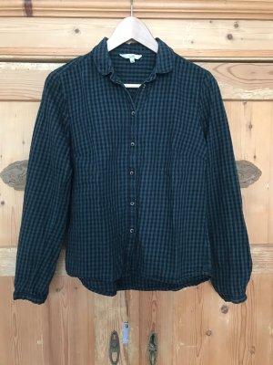 C&A Clockhouse Checked Blouse black-dark green cotton
