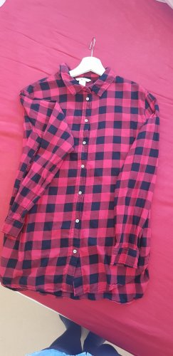 H&M Checked Blouse black-brick red