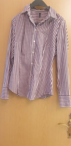 Benetton Checked Blouse bordeaux