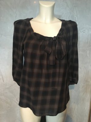 Comptoir des Cotonniers Geruite blouse grijs-bruin-donkerblauw