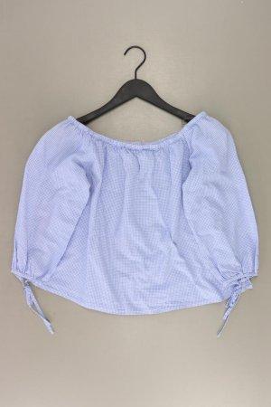 Bluzka w kratę niebieski-niebieski neonowy-ciemnoniebieski-błękitny Bawełna