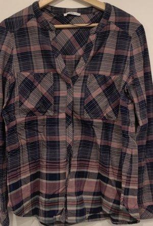 edc by Esprit Geruite blouse grijs-grijs-lila